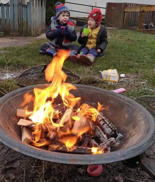 CND - Children at firepit