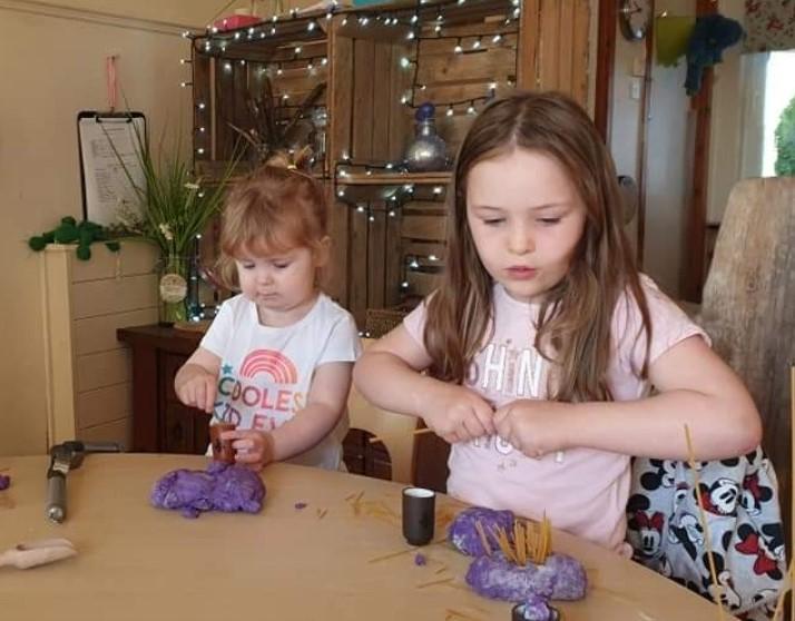 CND - children with playdough