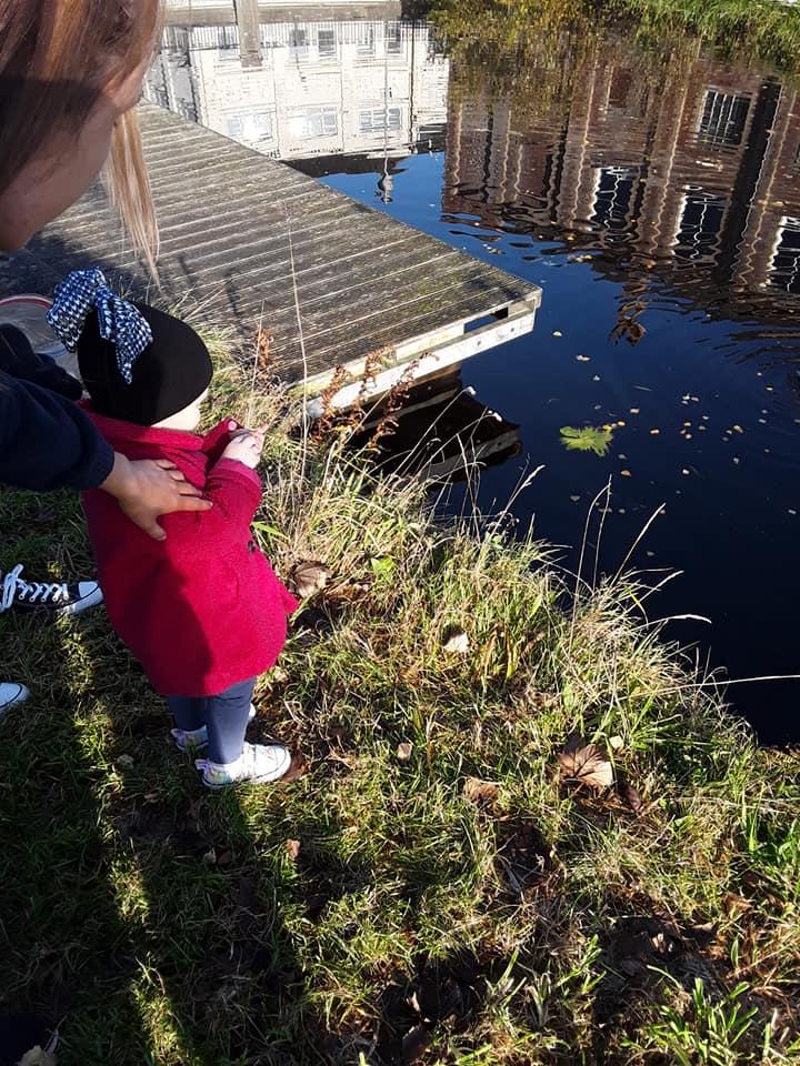 MHL - child feeding ducks