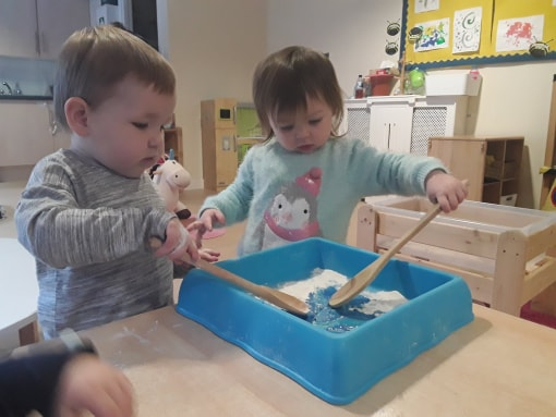 MHL - three at sensory play